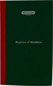 Writeaway Register of Members (Pages 224) (Company Act)(Pack of 2) A4 Writing Pad Hard Bound