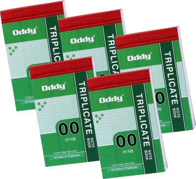 Oddy 5 Triplicate Notebook 1/12 in 50 Se...