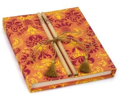 Urvee Products B7 Diary(Handmade, Orange, Red, Yellow)