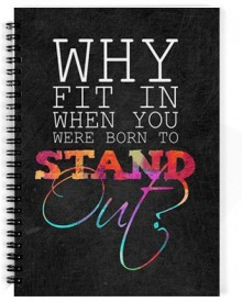 Dreambolic Why Fit In When You Were Born To Stand Out A5 Notebook Spiral Bound