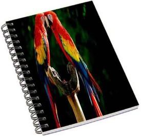 Shopmania A5 Notebook(Macaw love, Multicolor)