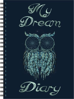 Nourish My Dream Plain Pages A5 Diary Spiral Bound