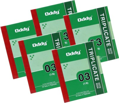 Oddy 5 Triplicate Note Book 1/6 in 50 Se...