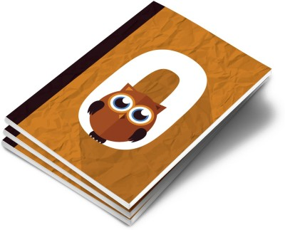 Live Out Loud A5 Notebook(Alphabet Theme, Brown)