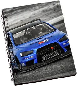 Lycans Evo Racing Car A5 Notebook Spiral Bound