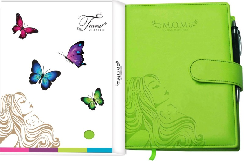 Tiara Diaries A5 Journal(Pregnancy Journal cum planner & record book, Lime Green)