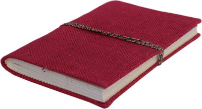 eShilp Regular Journal(Handmade Diary-Jute Fabric Cover-Bahi Binding Size 18x13x1.3 Cm, Red)