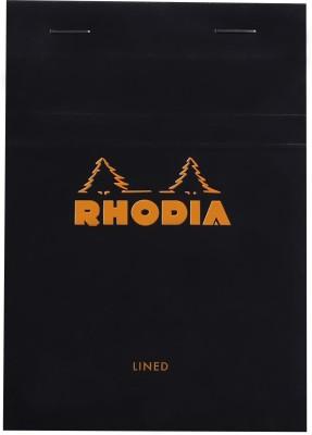 Rhodia A6 Note Pad(Basics Black - No. 13 - A6 - 148 mm x 105 mm, Black)