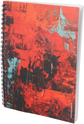 Indian Colours Abstract Art A5 Notebook Spiral Bound