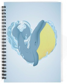 Dreambolic A Yellow & Gray Whale A5 Notebook Spiral Bound