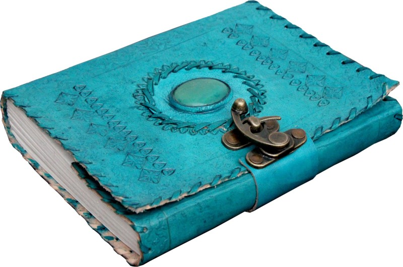 Craft Shop A5 Diary(Handcrafted 100% Pure Leather, Ocean Blue)
