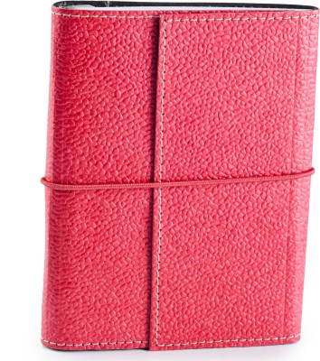 Ecoleatherette A6 Journal(Handcrafted, Dark Pink)