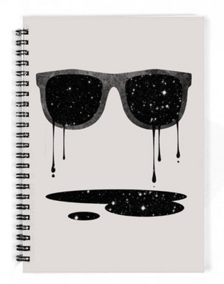 The Fappy Store A5 Notebook(expand your horizon, White)