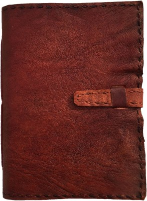 Rstore Regular Notebook(Handmade leather cover TC notebook with belt lock (8x6 inch), Multicolor)