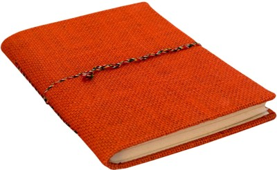 eShilp Regular Journal(Handmade Diary Jute Fabric Cover Bahi Binding Size 18x13x1.3 Cm, Orange)