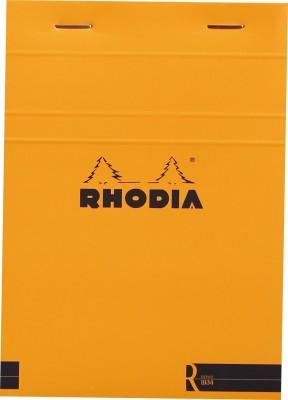 Rhodia A6 Note Pad(Basics Orange R Stapled - No. 13 - A6 - 148 mm x 105 mm, Orange)