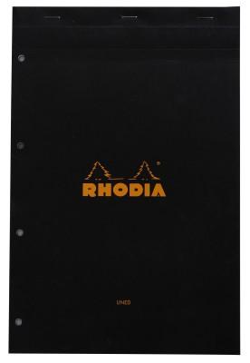 Rhodia A4 Note Pad(Basics Black - A4+ - 318 mm x 210 mm, Black)