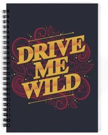 Dreambolic Drive Me Wild A5 Notebook Spiral Bound