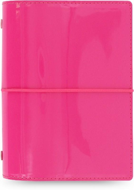 Filofax Pocket-size Organizer(Domino Patent, Pink)