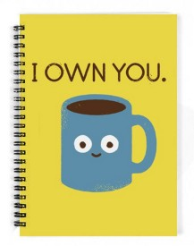 The Fappy Store coffee talk A5 Notebook Spiral Bound