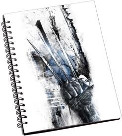 Lycans Wolverine Claws Art A5 Notebook Spiral Bound