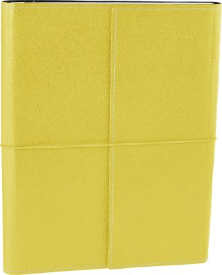 Ecoleatherette B5 Journal(Handcrafted, Lime Yellow)