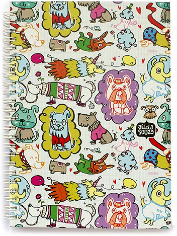 Alicia Souza A5 Writing Pad(Doggie, Multicolor)