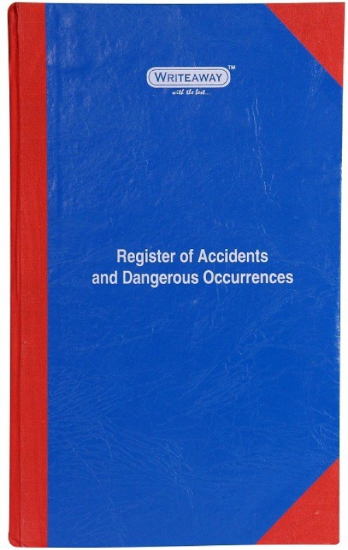 Writeaway Regular Journal(Register Of Record Of Accidents And Dengerous Occurrences (Factory Act), Multicolor)