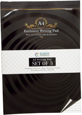 Imagine Products A4 Writing Pad(Ruled, Multicolor, Pack of 3)