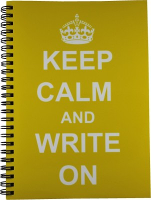 Nourish A5 Diary(Keep Calm & Write On Yellow Plain Pages, Yellow)