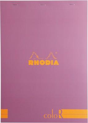 Rhodia A4 Note Pad(Basics Lilac ColoR - No. 18 - A4 - 297 mm x 210 mm, Lilac)