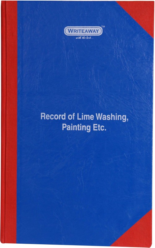 Writeaway Regular Journal(Register Of Record Of Lime Washing, Painting Etc. (Factory Act), Multicolor)