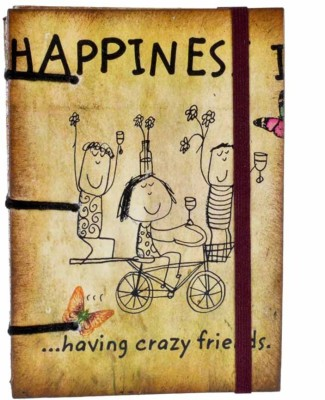Craft Play Happiness Is A6 Diary Hand Sewn