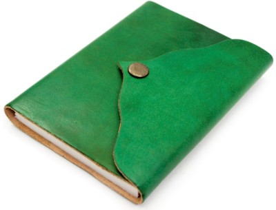 Lokalart Regular Journal(Leather Writing Diary Stylish Notebook 6.5 X 5 Inches, Green)