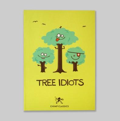 Chimp Tree Idiots A6 Notebook Hard Bound