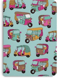 DailyObjects Funky Rickshaw A5 Notebook Paper Back