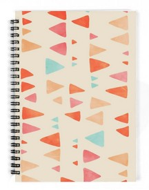 The Fappy Store Triangle Abstract Pattern A5 Notebook Spiral Bound