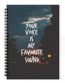 Dreambolic Your Voice Is My Favourite Sound A5 Notebook Spiral Bound