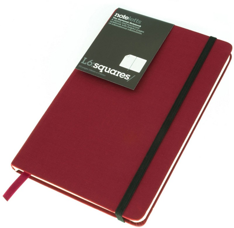 Letts A6 Notebook(Universal, Burgundy)