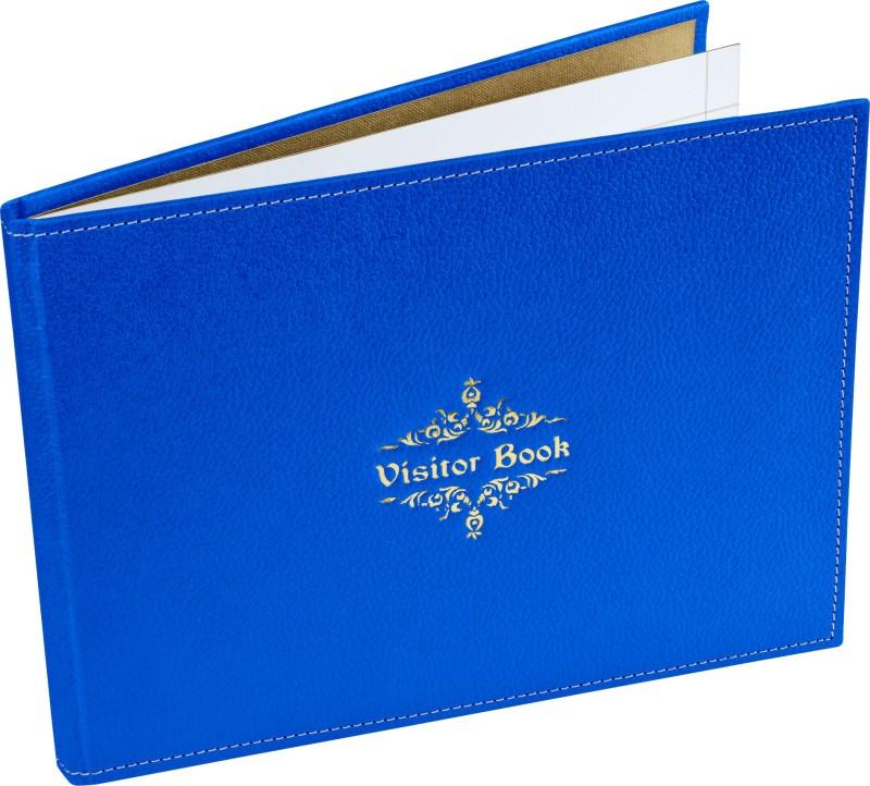 Ecoleatherette Regular Visitor's Book(Handcrafted, Denim Blue)
