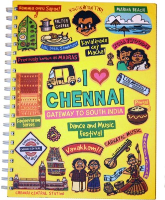 Eco Corner Chennai Ruled Exercise A4 Notebook Spiral Bound