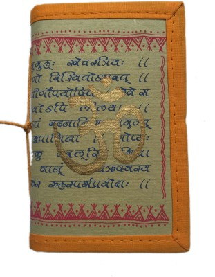Rstore Regular Journal(Handmade Om Print Bahi (Size 15.2x10cm), Multicolor)
