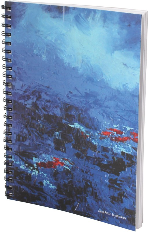Indian Colours A5 Notebook(Art Cover, Blue)