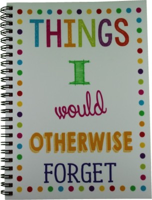 Nourish A5 Diary(Things I Would Otherwise Forget Ruled Pages, Multicolor)