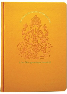 Tiara Diaries A5 Notebook(Diwali Gift - Ganesh Ji, Golden)