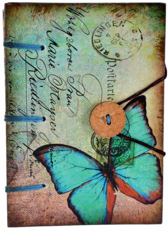 Craft Play Regular Diary(Butterfly With Button, Multicolor)