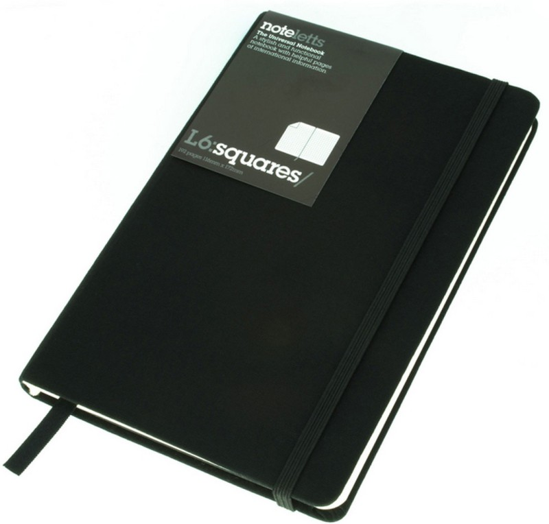 Letts A6 Notebook(Mode, Black)