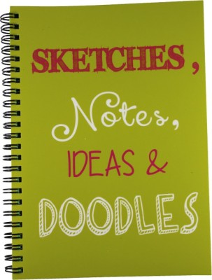 Nourish A5 Diary(Sketches , Notes , Ideas & Doodles Ruled Pages, Green)