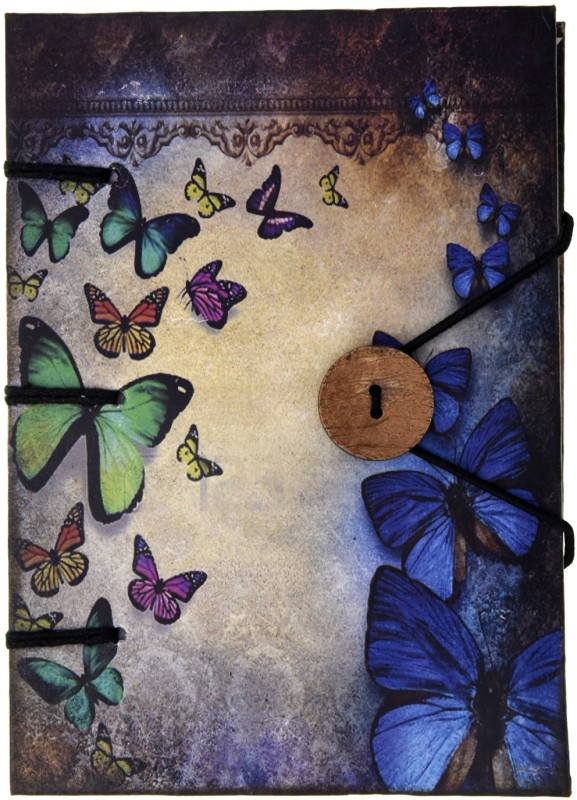 Craft Play A5 Diary(Multi Butterfly with Button, Multicolor)