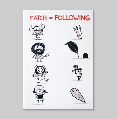 Chimp Match the Following A6 Notebook Hard Bound